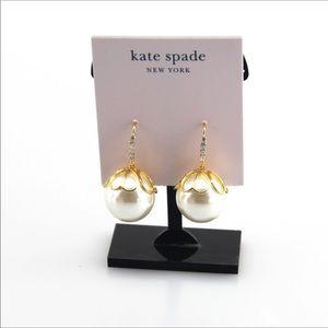 NWT Kate spade crystal pearl earrings